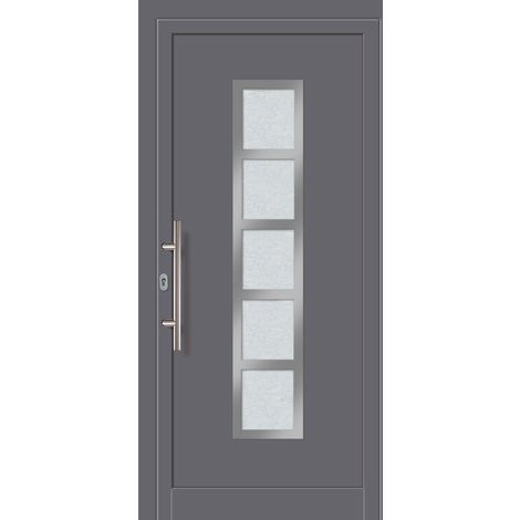 Porte d'ingresso principali alluminio modello 451A dentro: titanio, al di fuori: titanio