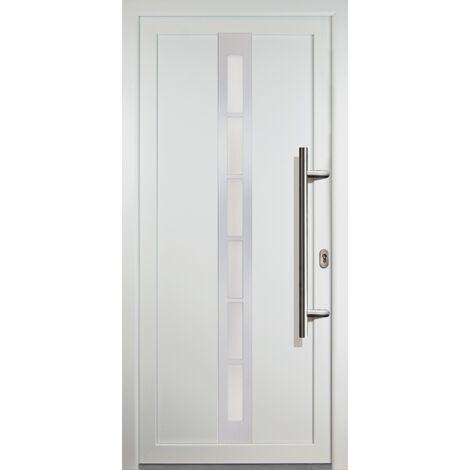 Porte d'ingresso principali classico modello C22 dentro: bianco, al di fuori: bianco