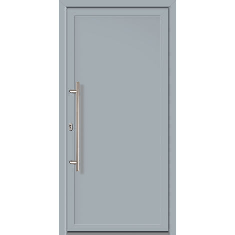 Porte d'ingresso principali esclusive modello 801 dentro: bianco, al di fuori: grigio