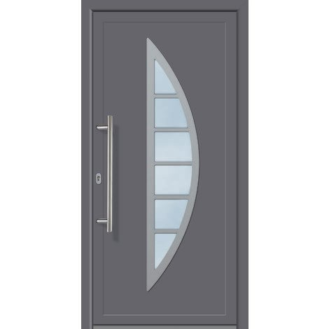 Porte d'ingresso principali esclusive modello 828 dentro: titanio, al di fuori: titanio