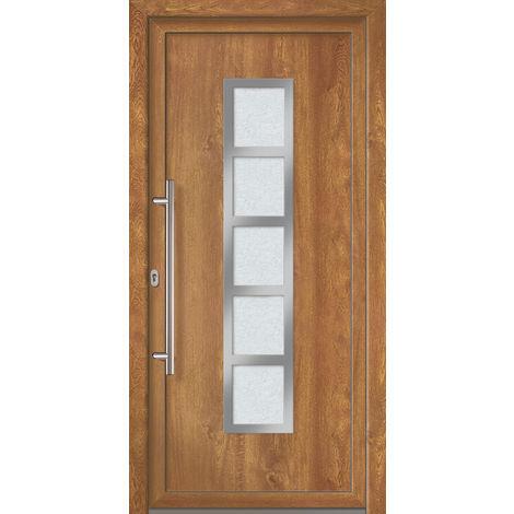 Porte d'ingresso principali esclusive modello 851 dentro: bianco, al di fuori: golden oak