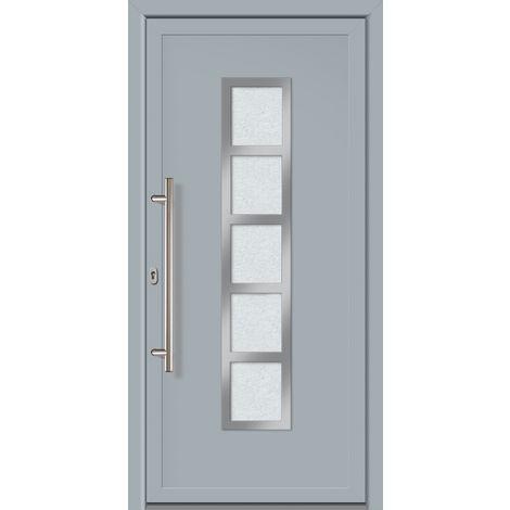 Porte d'ingresso principali esclusive modello 851 dentro: bianco, al di fuori: grigio