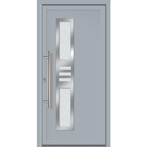Porte d'ingresso principali esclusive modello 853 dentro: bianco, al di fuori: grigio