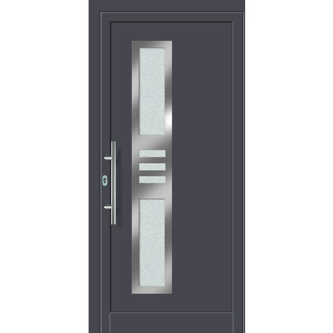 Porte d'ingresso principali esclusive modello 853 dentro: titanio, al di fuori: titanio