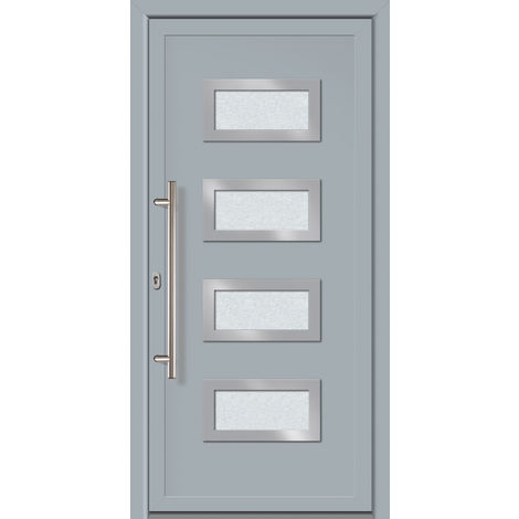 Porte d'ingresso principali esclusive modello 892 dentro: bianco, al di fuori: grigio