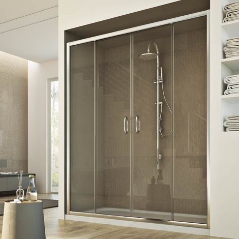 Porte Douche 120 cm 185 transparent modèle Replay 2 Portillons