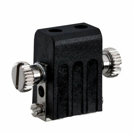 Porte douille GX5,3 pour système de câbles suspendus halogène 12V - Noir