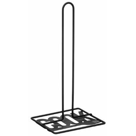 Porte Essuie Tout en Métal Cook 31cm Noir