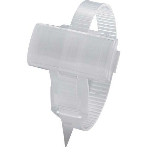 Porte-étiquette avec collier de serrage Phoenix Contact KMK 3 1005211 Surface de marquage: 25 x 10 mm transparent 1 pc(s) D12169
