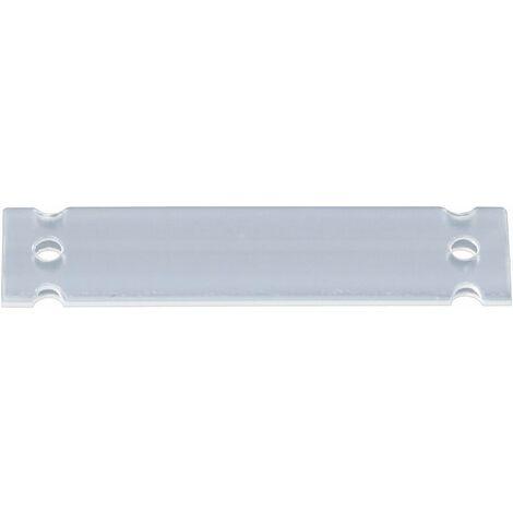 Porte-étiquette HellermannTyton HC09-52-PE-CL 525-10523 Type de montage: pour collier serre-câbles Surface de marquage: 52 x 10 mm transparent 1 pc( S13467