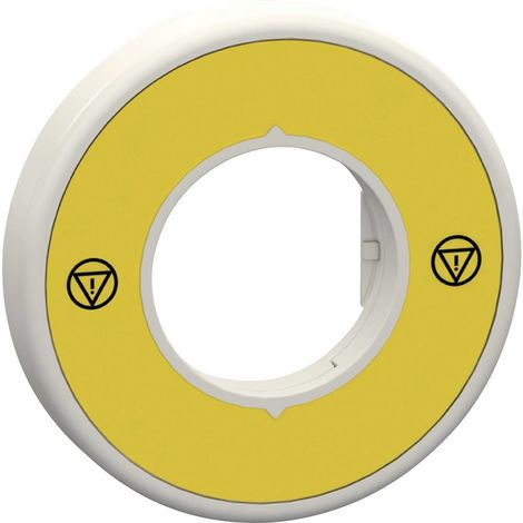 Porte-étiquette Schneider Electric ZBY9W2B140 ZBY9W2B140 (Ø) 60 mm EMERGENCY STOP jaune, gris 1 pc(s)