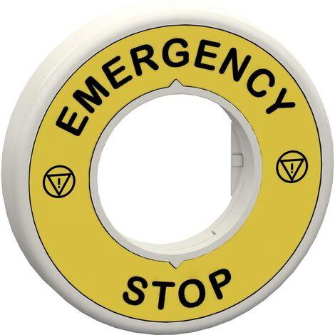 Porte-étiquette Schneider Electric ZBY9W2B330 ZBY9W2B330 (Ø) 60 mm EMERGENCY STOP jaune, gris 1 pc(s)