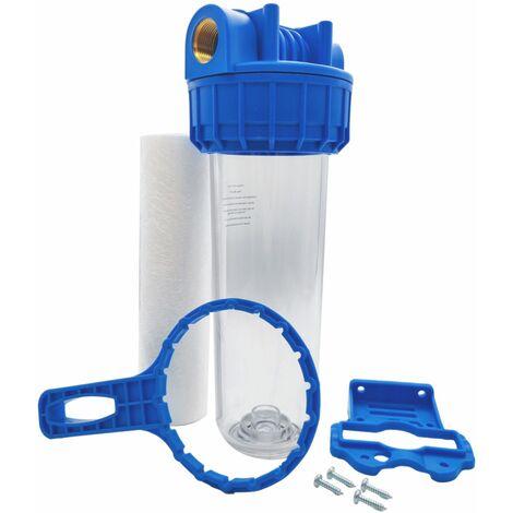 """Porte filtre à eau 9""""3/4 - 20/27F + filtre sédiment 20µm"""