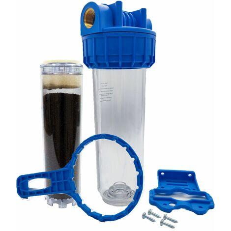 """Porte filtre à eau 9""""3/4 - 26/34F + filtre charbon actif"""