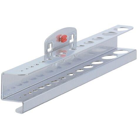 Porte-forets/clés six pans H35xl390xP30mm pour 28pièces Adapté à panneaux perforés