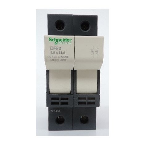 Porte-fusible - 2P - 25A - pour fusible 8,5x31,5mm TeSys SCHNEIDER ELECTRIC DF82