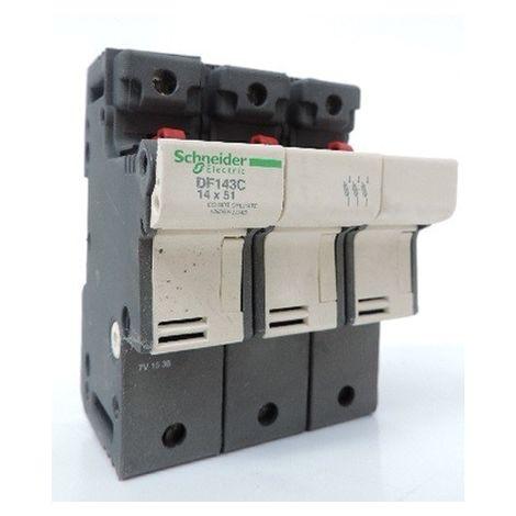 Porte-fusible - 3P - 50A - pour fusible 14x51mm TeSys SCHNEIDER ELECTRIC DF143C