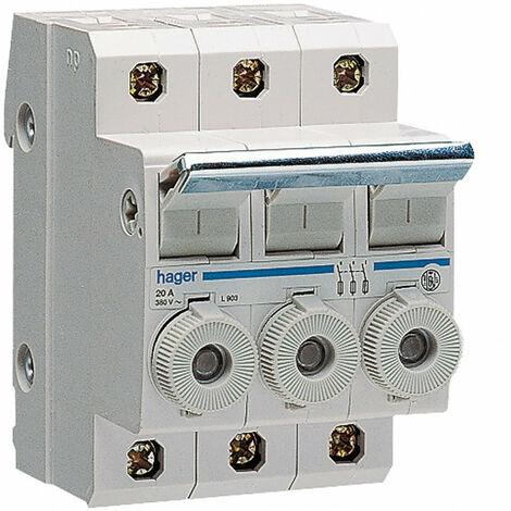 Porte-fusible combiné 3P 20A 380V L31 3M avec cartouche (L90300)