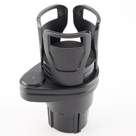 Porte-gobelet multifonctionnel rotatif rétractable pour voiture noir 11.8x8.7x18.6cm