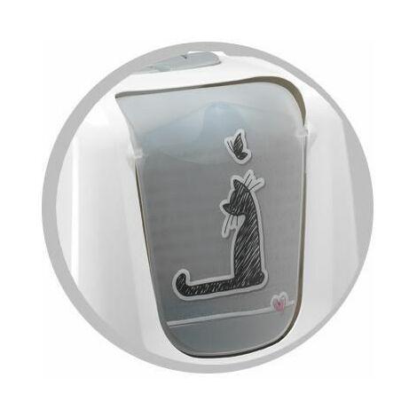 Porte maison de toilette cats in love 50