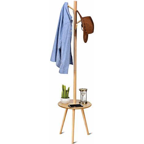 porte manteau sur pied en bois avec 4 crochet v tements. Black Bedroom Furniture Sets. Home Design Ideas