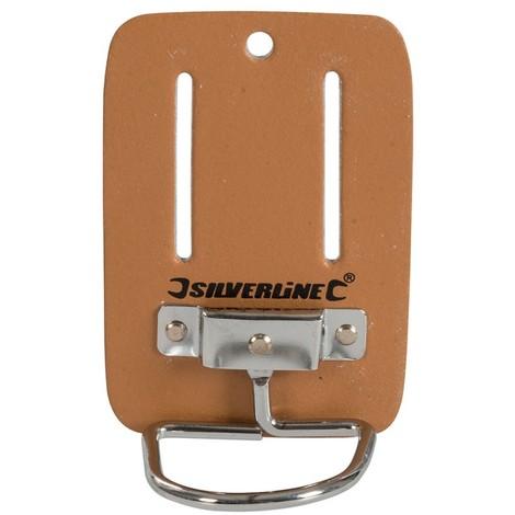 Porte-marteau en cuir pour ceinture - 100 x 50 mm
