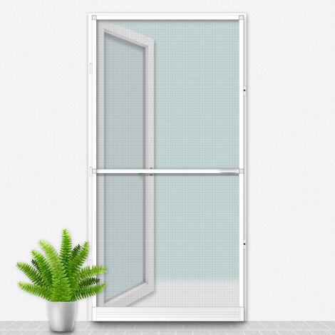 Porte Moustiquaire 100x215 cm Blanc