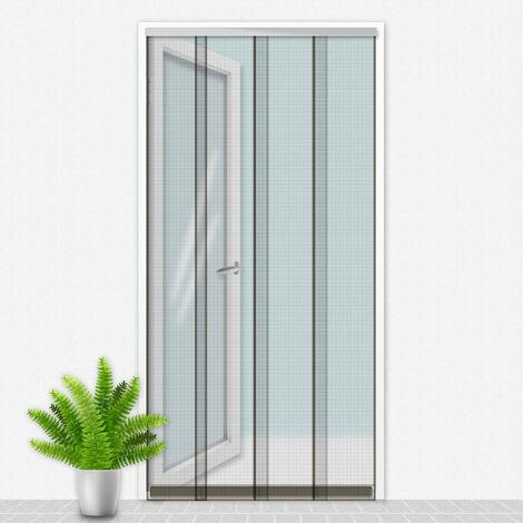 Porte Moustiquaire 100x220 cm Gris - Cristal