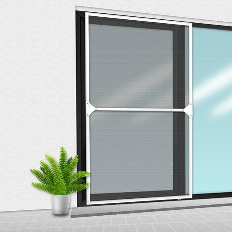Porte Moustiquaire 150x220 cm Blanc