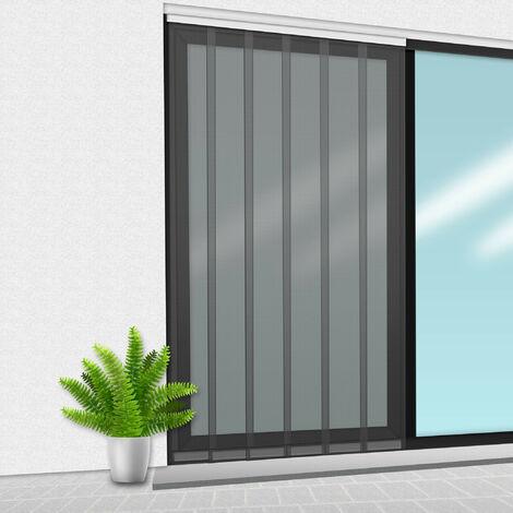 Porte Moustiquaire 150x235 cm Gris - Gris