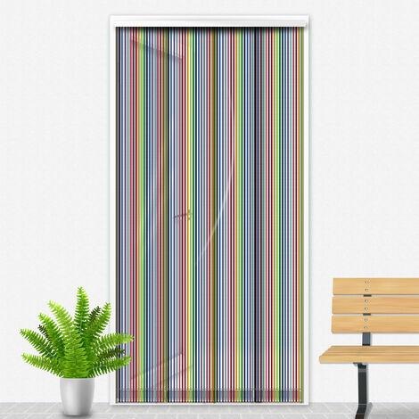 Porte Moustiquaire 90x220 cm Multicolore - Blanc