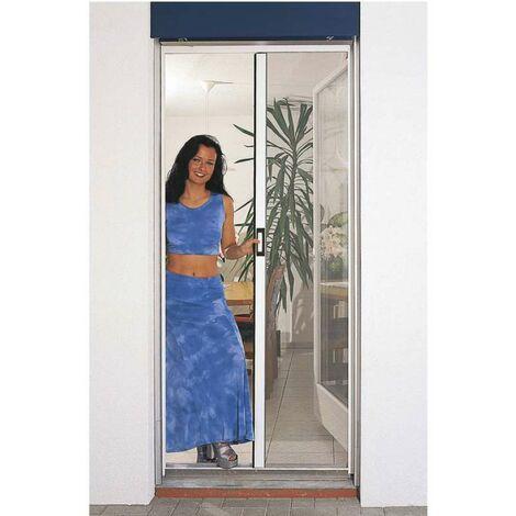 Porte moustiquaire automatique blanc Largeur maxi 160 cm