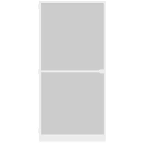 Porte-moustiquaire WIP Porte anti-mouches grillagée en alu 100x210 cm, blanc