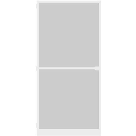 Porte-moustiquaire WIP Porte anti-mouches grillagée en alu 120x240 cm, blanc
