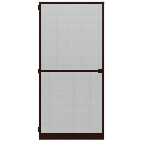 Porte-moustiquaire WIP Porte anti-mouches grillagée en alu 120x240 cm, marron