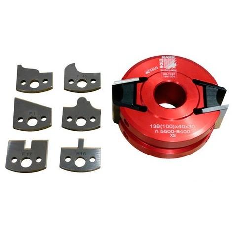 Porte-outil à profiler avec contre-fers D. 100 x 40 x Al. 30 mm Z2 UNISET40 - Holzmann - -