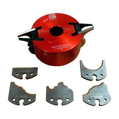 Porte-outil à profiler avec contre-fers D. 120 x 60 x Al. 30 mm Z2 UNISET60 - Holzmann - -
