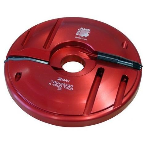 Porte-outil plate bande D. 180 x 25 x Al. 30 mm Z2 APF180 livré avec profil F0 - Holzmann - -