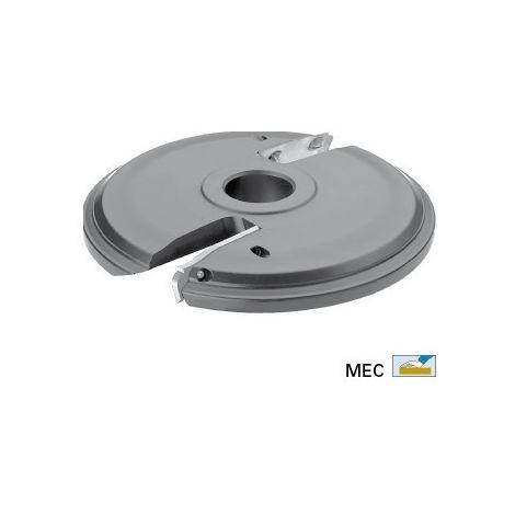 Porte-outils à plate-bande Ø160 mm pour toupie arbre de 30 mm - Travail dessus