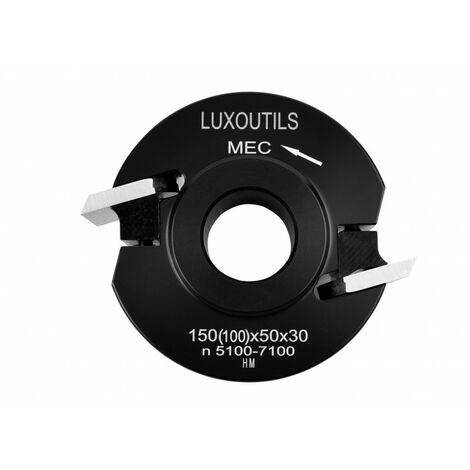 Porte outils à profiler ACIER 100 x 50 toupie arbre 30 mm