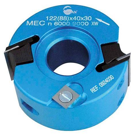 Porte-outils à profiler - Feuillurer D. 120 mm Al. 50 mm Ht. 40 mm Z.2 et V2 - 122.40.50 - Leman - -