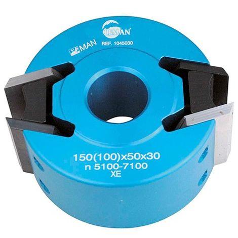 Porte-outils à profiler - Moulurer D. 100 mm Al. 30 mm Ht. 50 mm 2 fers et Contre-fers - 104.50.30 - Leman - -