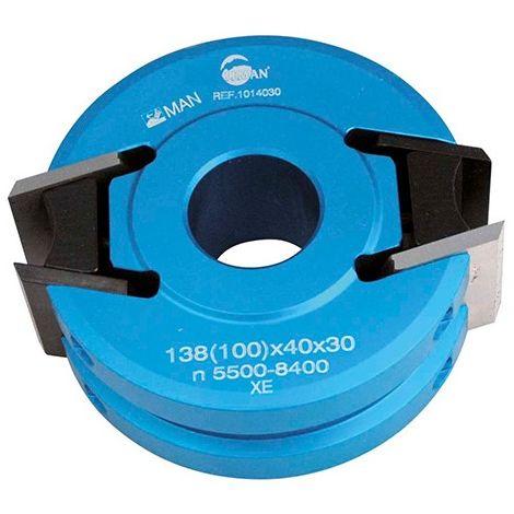 Porte-outils à profiler - Moulurer D. 120 mm Al. 50 mm Ht. 40 mm 2 fers et Contre-fers - 121.40.50 - Leman - -