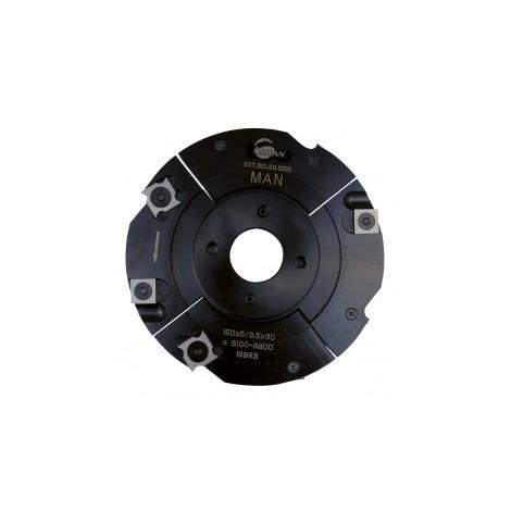 Porte outils a rainer 150 mm à plaquettes carbure extensible 5 à 9,5 mm toupie 30 mm