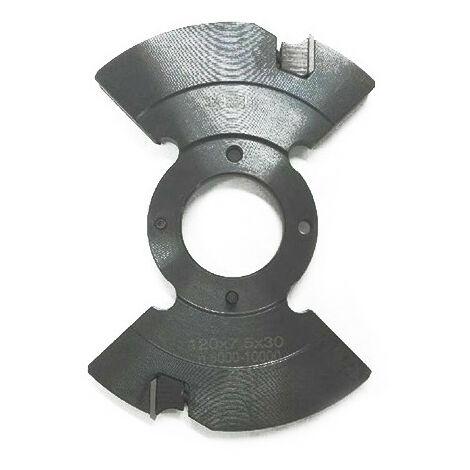 Porte-outils à rainer extensible D. 120 mm Al. 30 mm Ep. 5 mm Al. 9,5 mm Z4 et 4 - 937.120.30.0595 - Leman - -