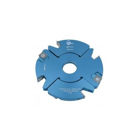 Porte outils à rainer / tenonner 140 mm 14/28 mm toupie 30 mm
