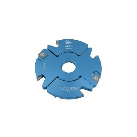 Porte outils à rainer / tenonner 140mm ép. 14/28mm toupie 30 mm