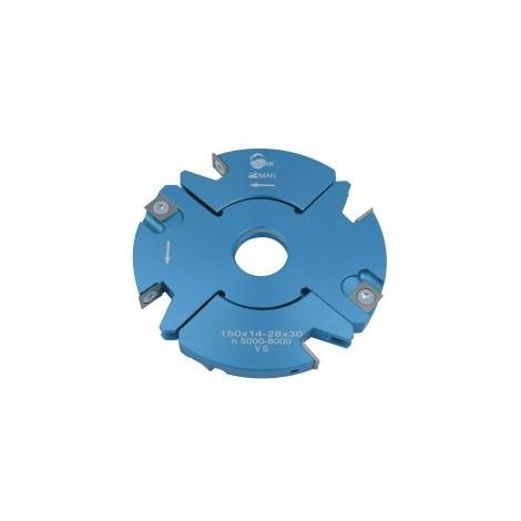 Porte outils à rainer / tenonner 150 mm 14/28 mm toupie 30 mm