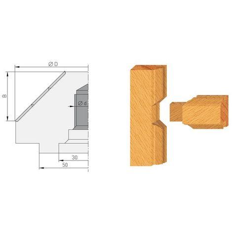 Porte-outils chanfreins 45° avec vis pour arbre de toupie M16