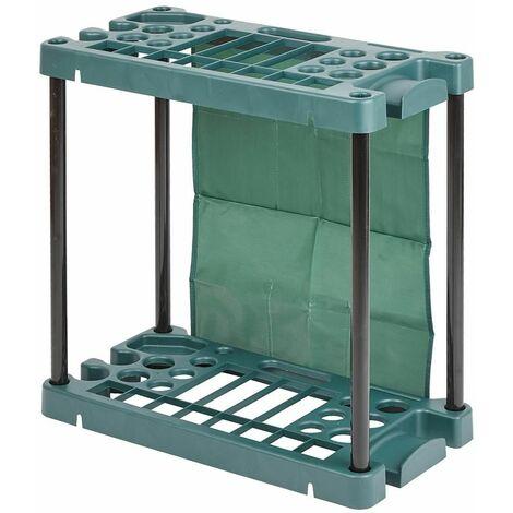 Porte-outils de Jardin Organisateur ordonné Léger Mobile Résistant Intempéries - Vert